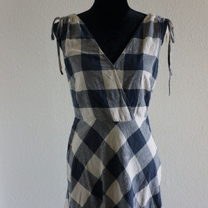 Zara Basic Z1975 Denim Dress Checkered